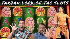 *NEW* Tarzan Lord of The Jungle Slot Machine Bonus Wheels and BIG WINS