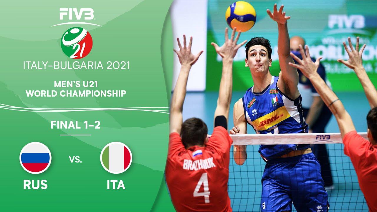 Download LIVE 🔴 RUS vs. ITA - Final 1-2 | Men's U21 Volleyball World Champs 2021