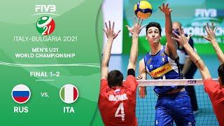 LIVE 🔴 RUS vs. ITA - Final 1-2 | Men's U21 Volleyball World Champs 2021