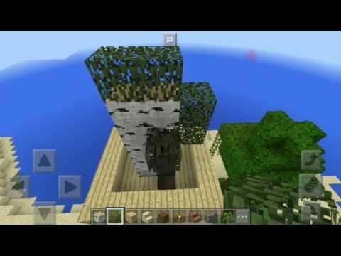 cara membuat rumah pohon di mcpe 2 YouTube