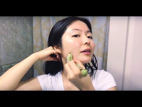 How to Jade Roll Facial Massage   Benefits   FOLLOW ALONG ♡ Lémore ♡