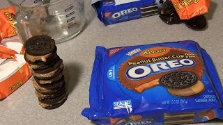 Reese's Peanut Butter Cup Oreos - Homemade Cookie Challenge