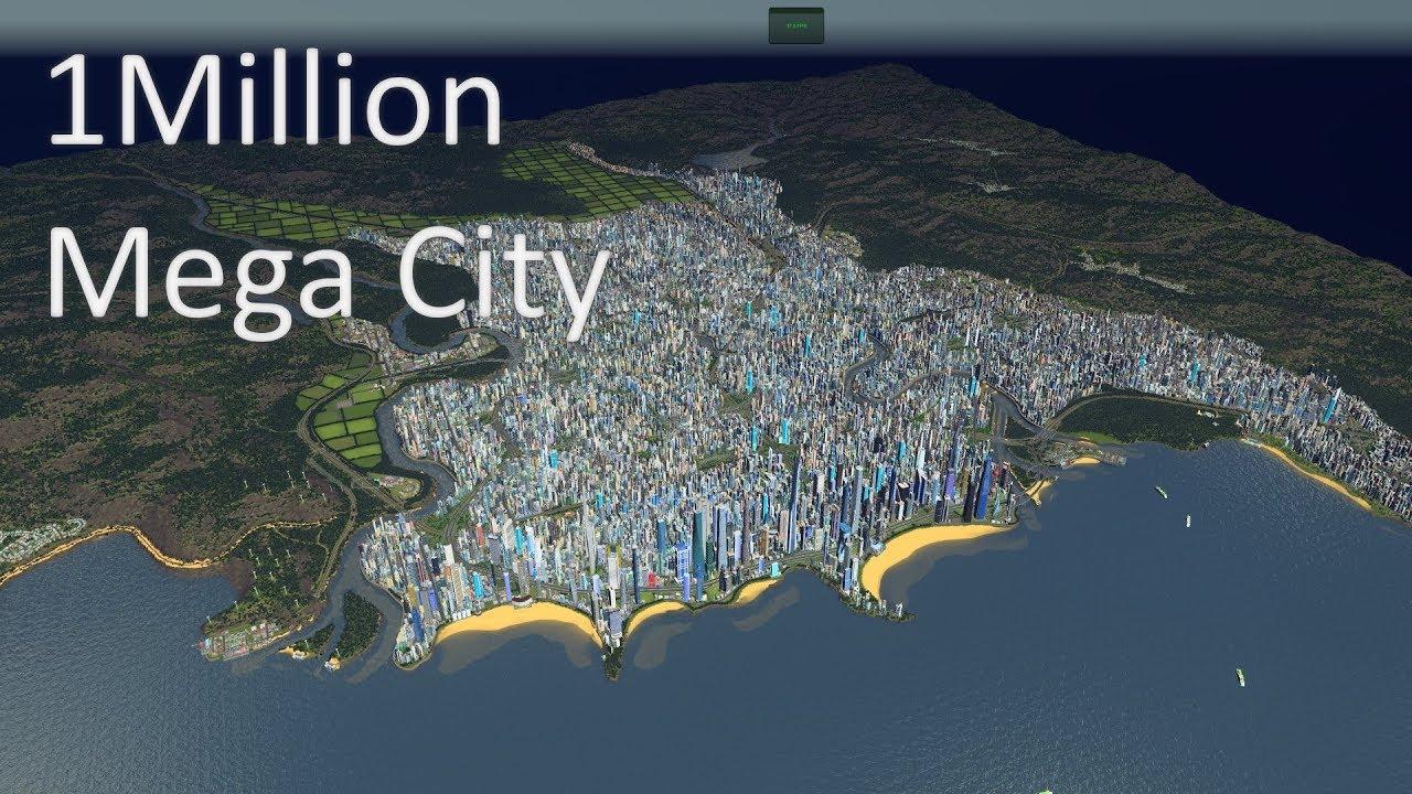Cities Skylines 1 Million Population Mega City Cinematic Video 4k Youtube