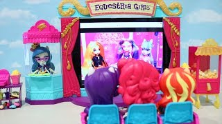 Equestria Girls Movie Theater ! Toys and Dolls Fun Family Playtime With My Little Pony | SWTAD Kids