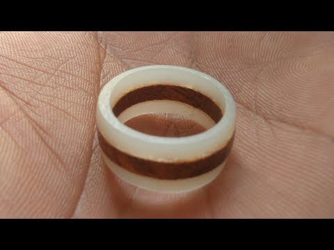 How to make white resin and wood ring | resin ring | wood ring | Resin craft