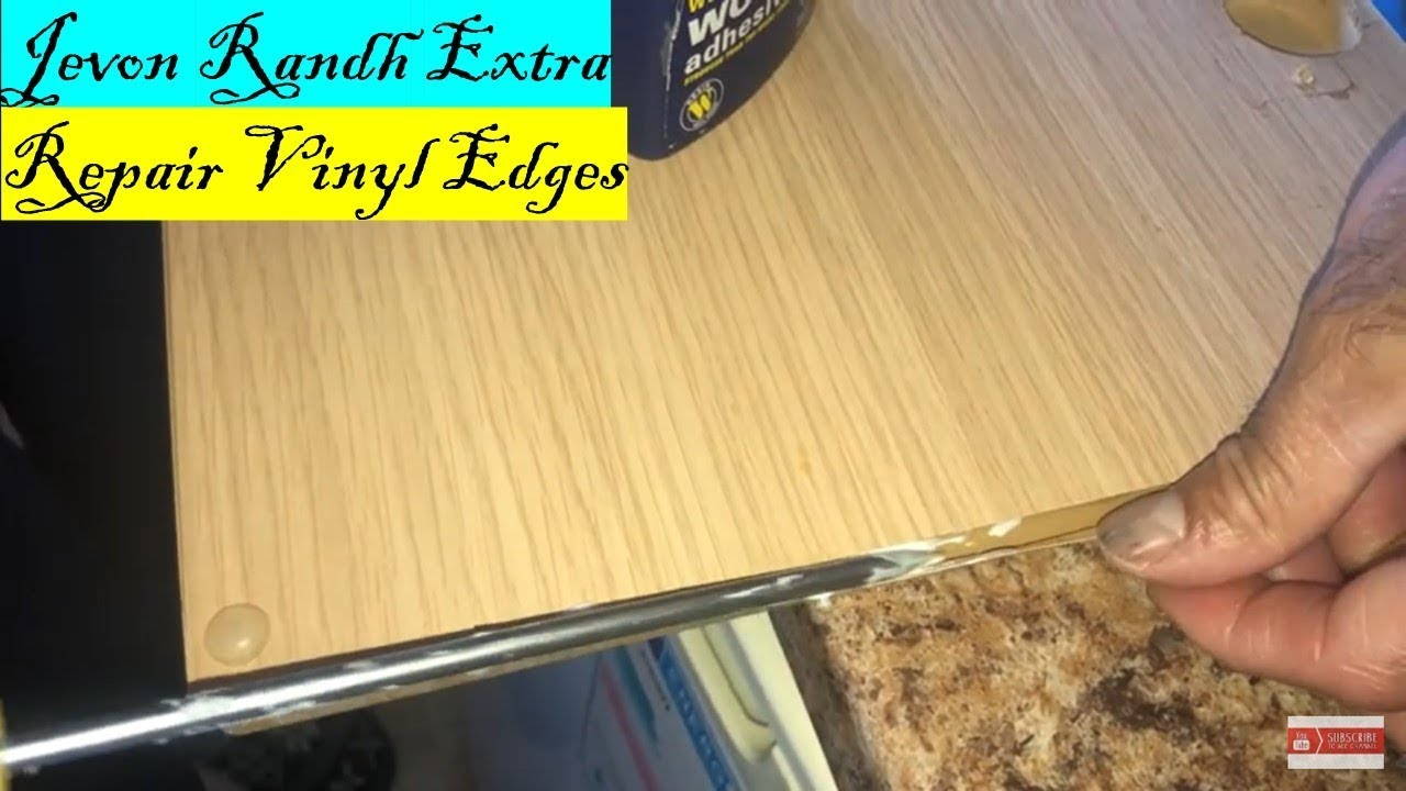 Repair Loose Vinyl Cabinet Door Edges - YouTube