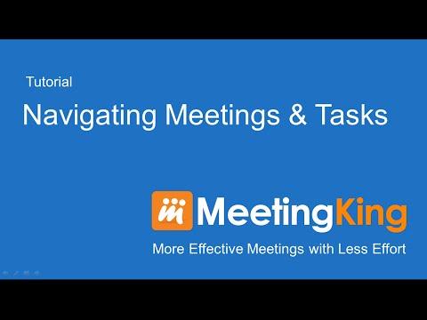 Navigating Meetings and Tasks