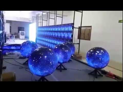 Customized LED Ball Screen, led globe display for Casino