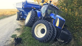 OUT OF CONTROL! - TRACTOR CRASH!