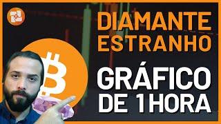 DIAMANTE ESTRANHO NO GRÁFICO DE 1H DO BITCOIN!