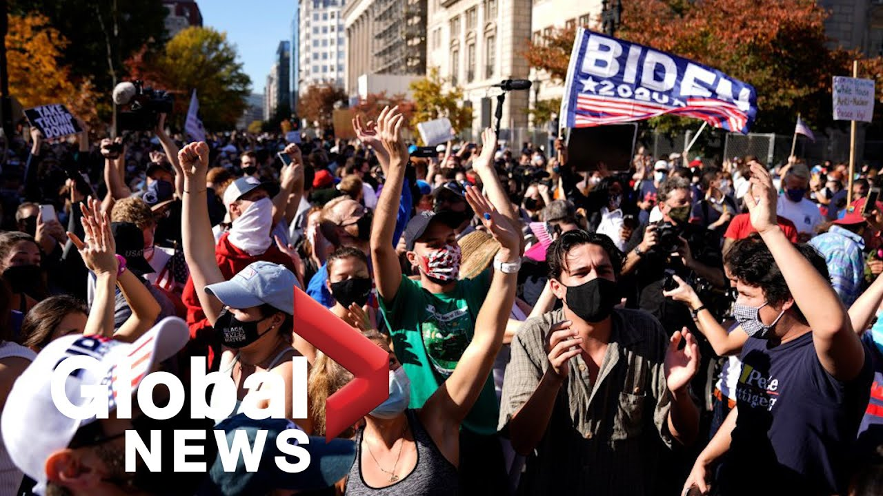 US election: Biden supporters celebrate his victory in streets across the country
