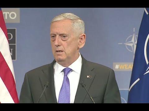 Defense Secretary Mattis At NATO- Full News Conference