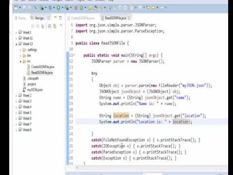 Java - read a JSON file - YouTube