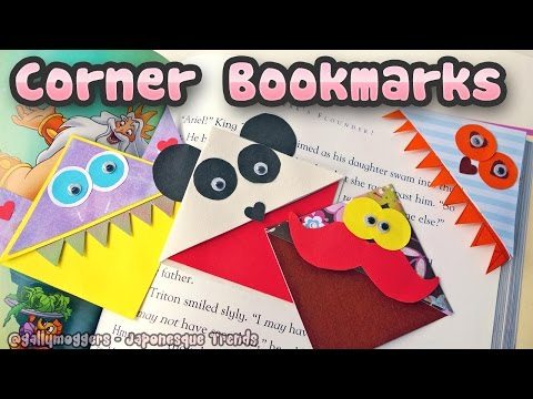 Make Cute Monster Corner Bookmarks - How To