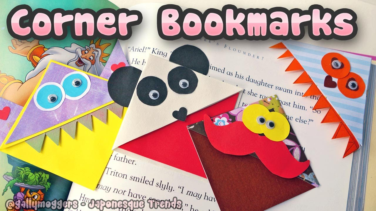 make cute monster corner bookmarks how to youtube - Bookmark Design Ideas