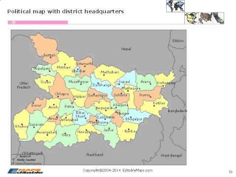 bihar editable map