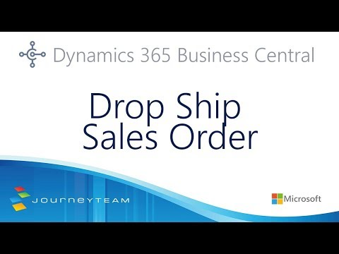 Drop Ship Sales Order | Dynamic 365 Business Central - YouTube