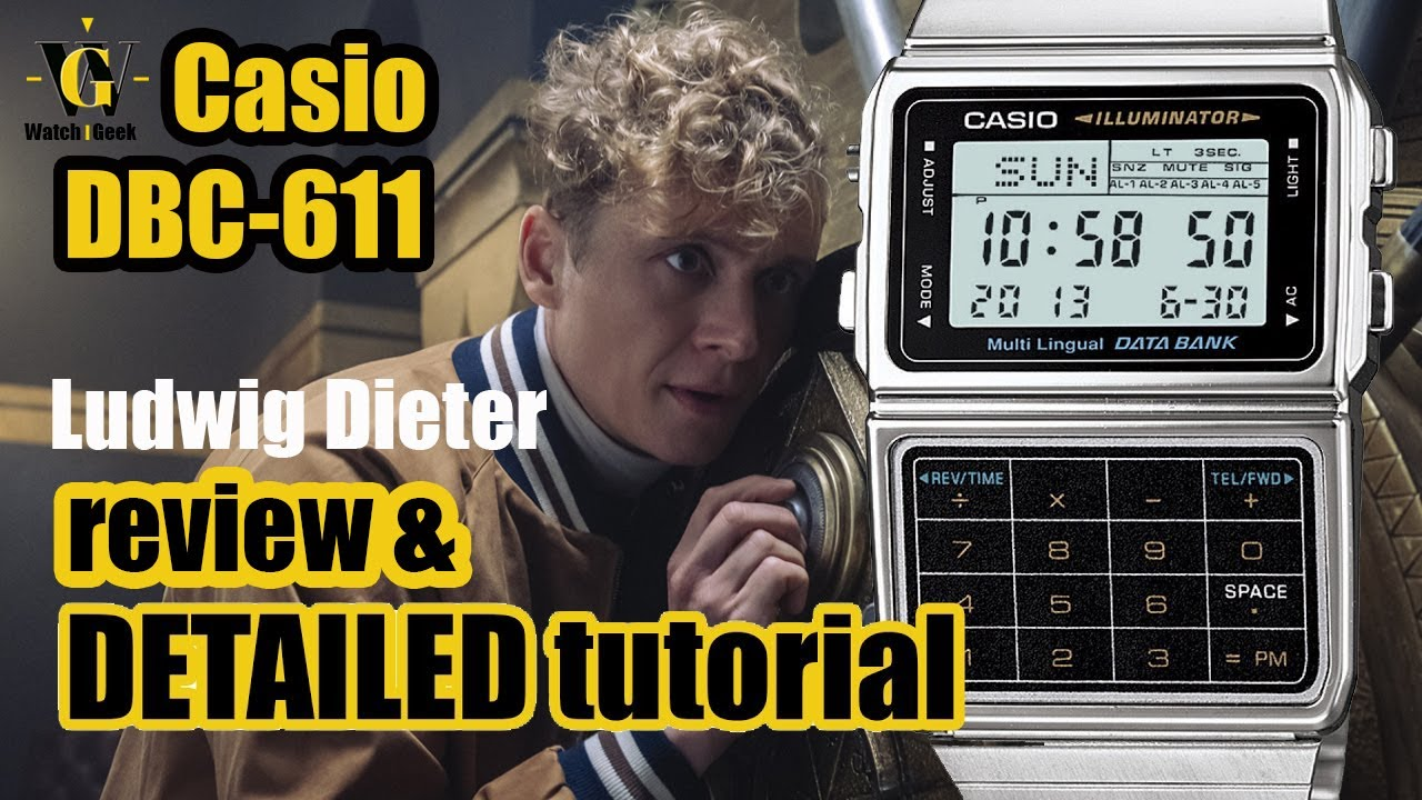 Casio DBC 611 - review and a detailed tutorial on how to setup and use all  the functions