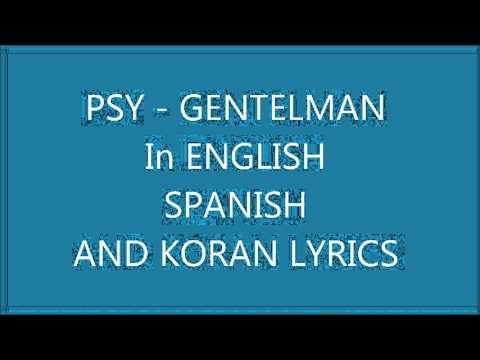 Gentlemen lyrics psy english