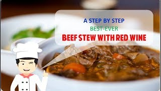SLOW COOK BEEF STEW WITH RED WINE