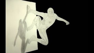 How To Draw 3D  Spider-Man - Pencil Sketch Spiderman - Speed Draw