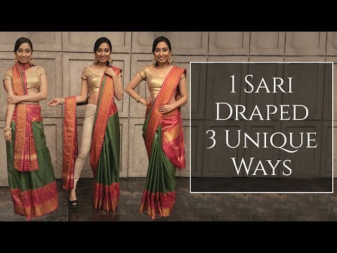 3 Unique Ways To Drape One Saree | Saree Draping Styles | MissMalini Fashion | MissMalini