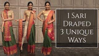 3 Unique Ways To Drape One Saree | Saree Draping Styles | MissMalini Fashion | MissMalini