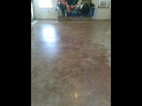 Den floor gets a makeover painted concrete floor youtube for What can i do to my concrete floor