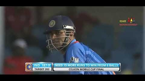15 runs needed from 6 balls final india vs srilanka