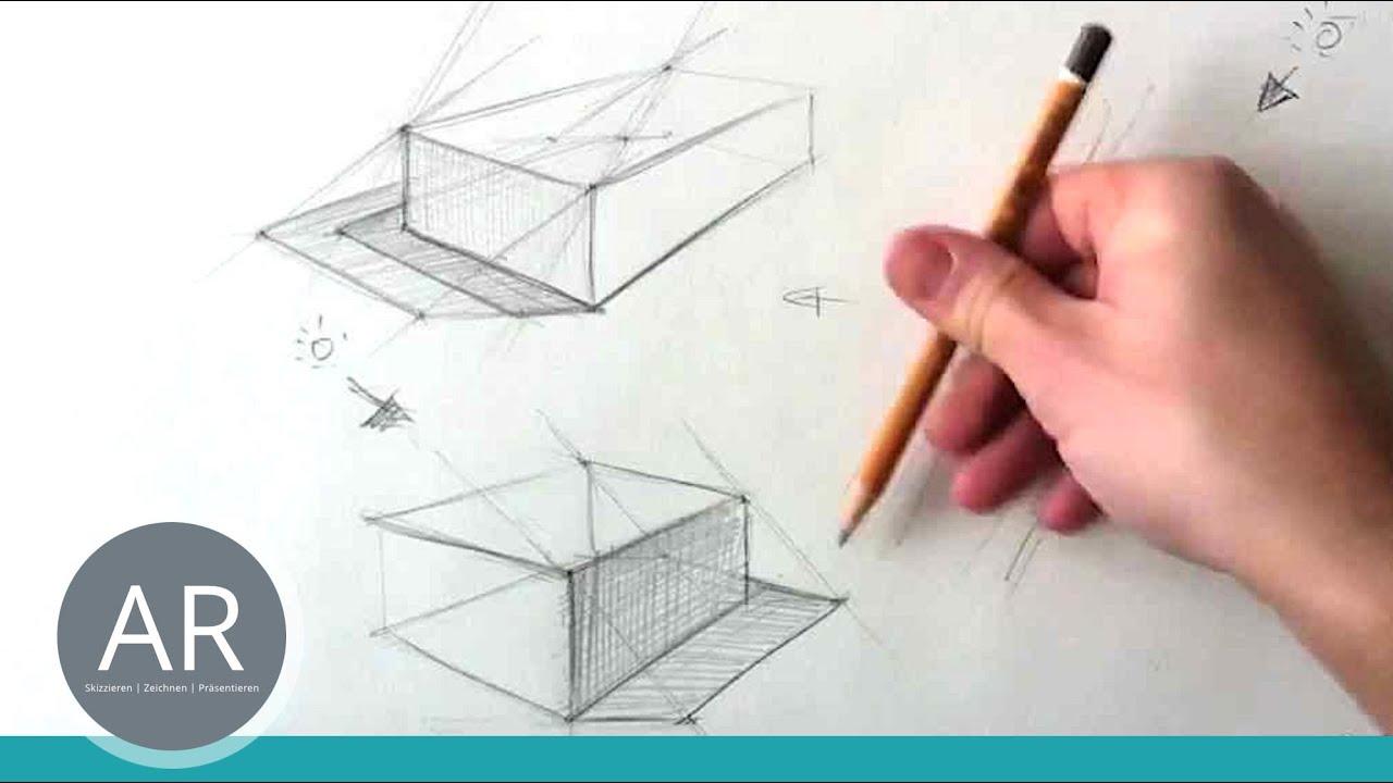 Zeichnen Lernen Konstruktion Eines Schlagschattens Teil 1 Von 4