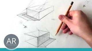 Zeichnen lernen - Konstruktion eines Schlagschattens Teil 1 von 4 - Zeichnen lernen HD