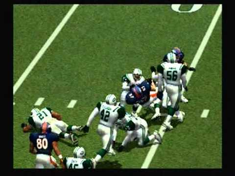 Jets @ Broncos Madden 2001 AFC Wild Card playoff game