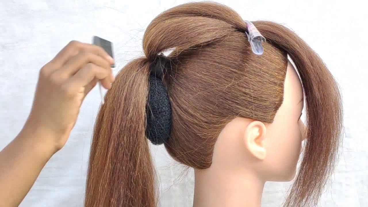 Beautiful Bun hairstyle for girls || wedding hairstyle \hairstyle for party wear||easy ...