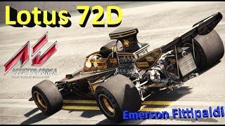 Emerson Fittipaldi - Historic F1 1972 - Lotus 72D-Assetto corsa 1.4.3
