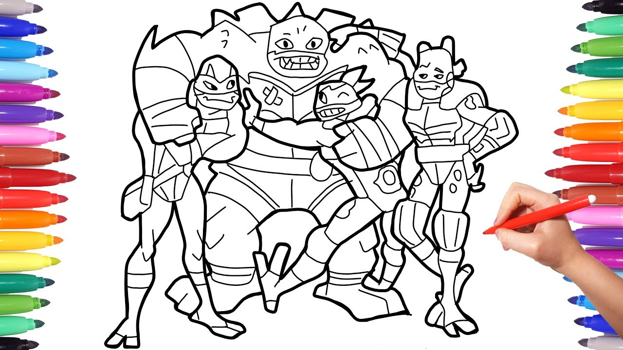 Rise Of The Teenage Mutant Ninja Turtles Tmnt Superheroes Coloring Pages For Kids Youtube