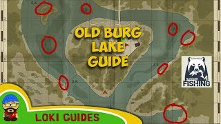Old Burg Lake Guide - Best Spots & Baits for Float, Feeder and Spinning - Russian Fishing 4