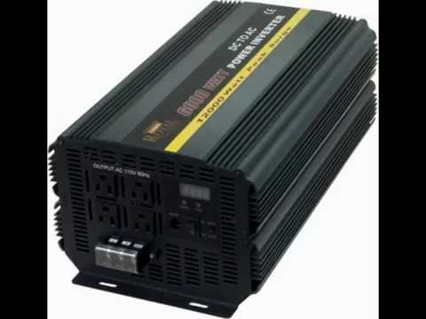 What Size Dc To Ac Power Inverter Should I Buy Youtube