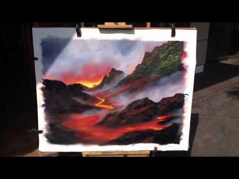 Lava painting demonstration tonight