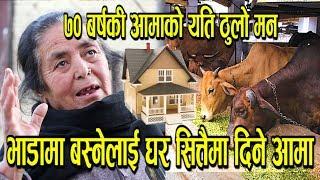 भाडामा बस्ने दुखीलाई काठमाडौंको घर नै सित्तैमा दिईन् ! गाई पाल्ने मनकारी आमा । Indu S. Thakuri