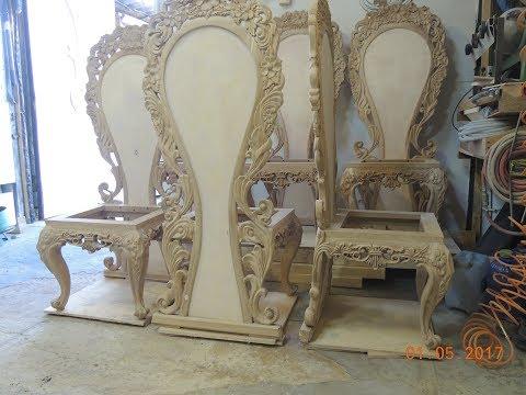 Резные стулья из массива дуба (ЧАСТЬ 1) мебель на заказ