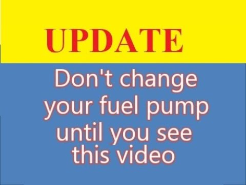 How to make a bad fuel pump work - UPDATE - part 2