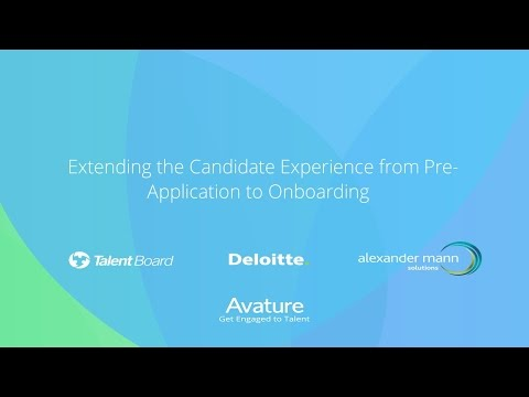 AvatureLive - Webinar: 2016 CandE Award Winners Deloitte & AMS on Candidate Experience