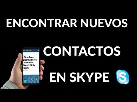 Cómo Buscar y Encontrar Nuevos Contactos en Skype