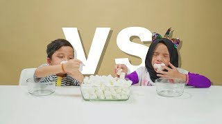 Sampe Enek 60 Detik Chubby Bunny Battle Qahtan VS Saleha Halilintar