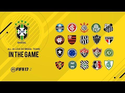 FIFA 17 - TIMES BRASILEIROS CONFIRMADOS !!!