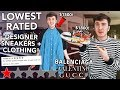 I Bought The LOWEST Rated Designer Sneakers/Clothing! (Balenciaga, Valentino & More!)