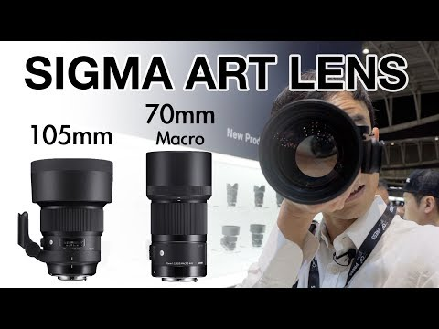 "New Sigma ""Bokeh Master"" 105mm And 70mm Macro Art Lens Hands-on First Lok At CP+ 2018"