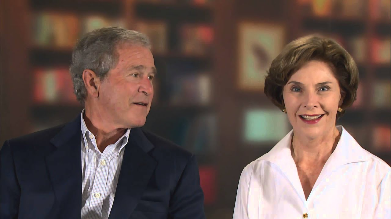 George w and laura bush apologise