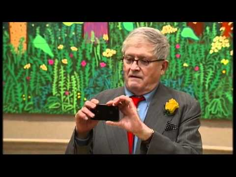iPad drawings in David Hockney