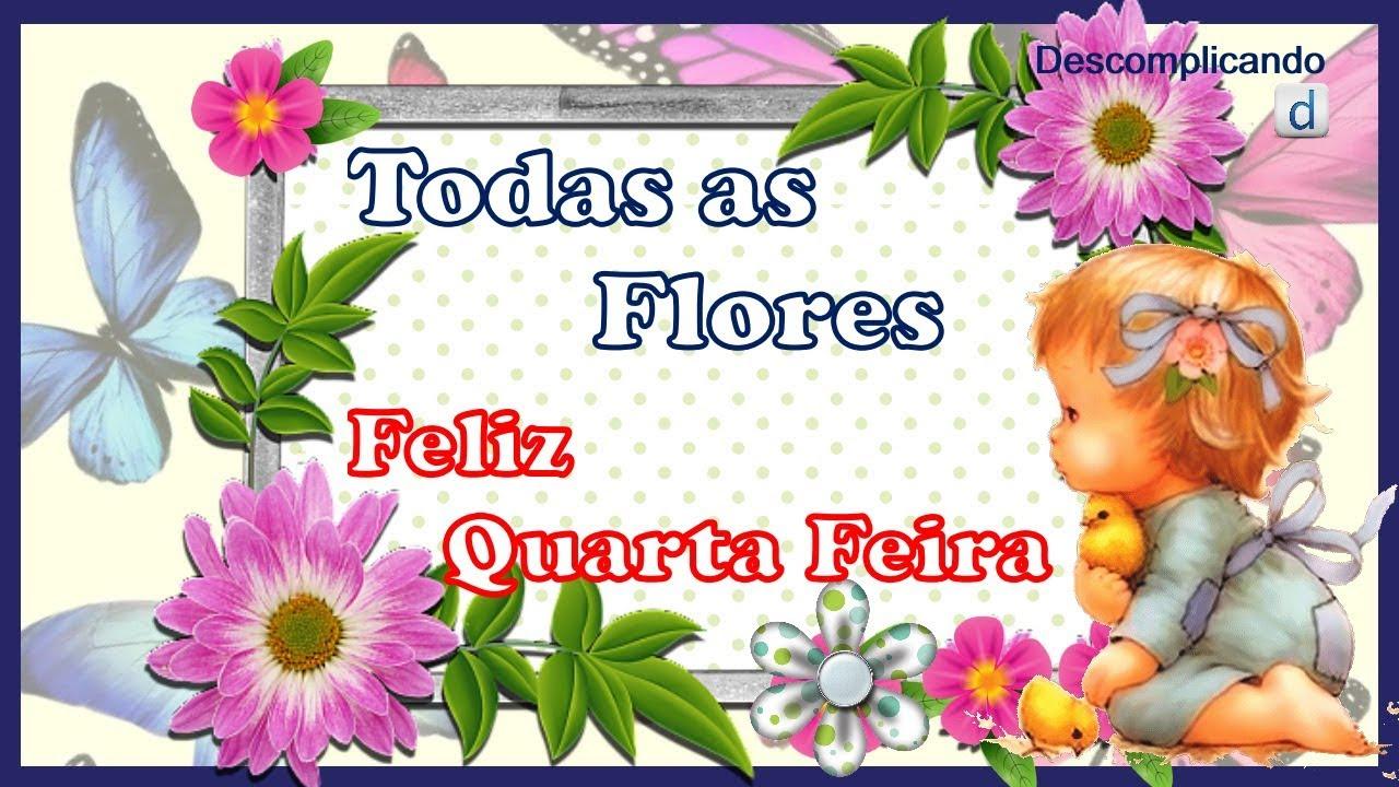 Todas As Flores Linda Mensagem De Bom Dia Feliz Quarta Feira